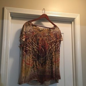Cato B. Friends Size 3X Top With Studded Accents